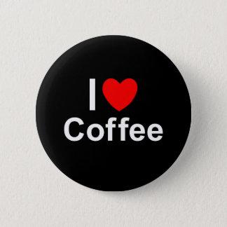 I Love Heart Coffee Pinback Button