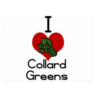 I love-heart collard greens postcard