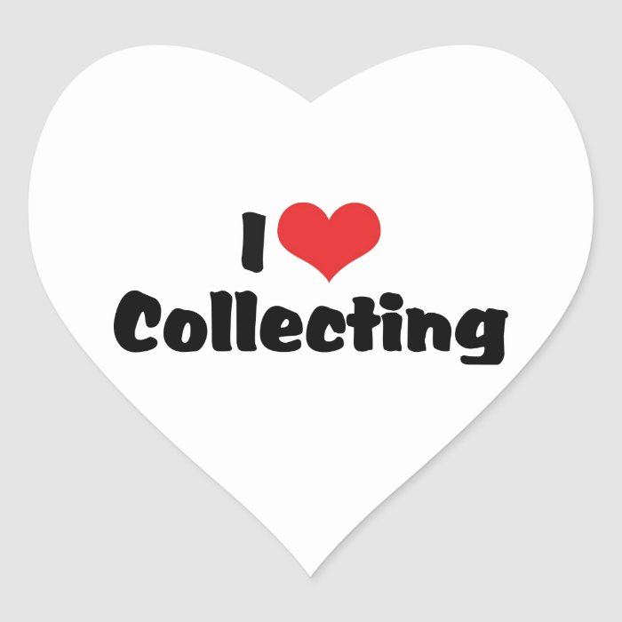 I Love Heart Collecting - Antique Junk Collector Heart Sticker