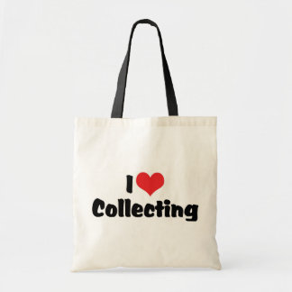 I Love Heart Collecting - Antique Junk Collector Tote Bag