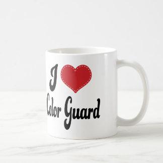 I Love (Heart) Color Guard Classic White Coffee Mug