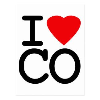 I Love Heart Colorado Postcard