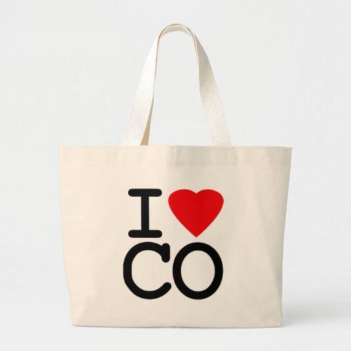 I Love Heart Colorado Tote Bags