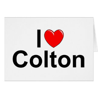 I Love (Heart) Colton Card