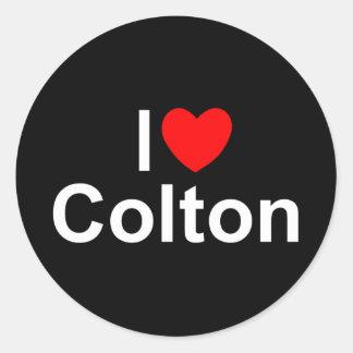 I Love (Heart) Colton Classic Round Sticker