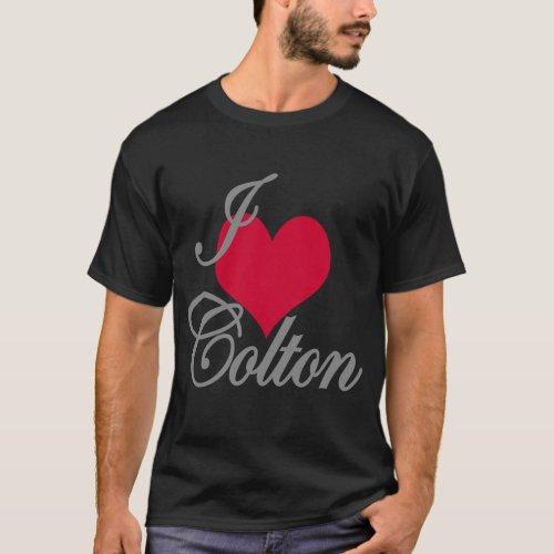 I Love Heart Colton Dark T_Shirt