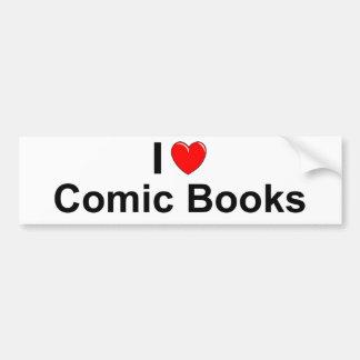 I Love Heart Comic Books Bumper Sticker