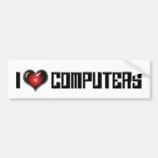 I Love Heart Computers - Electronics Lover Bumper Sticker