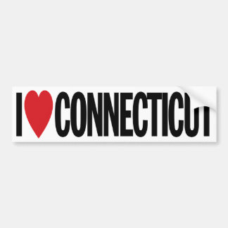 "I Love Heart Connecticut 11"" 28cm Vinyl Decal"