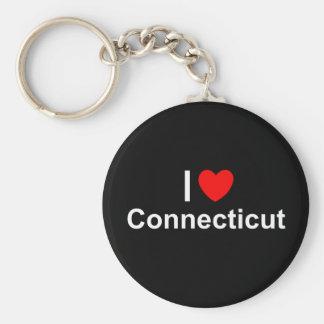 I Love (Heart) Connecticut Key Chains