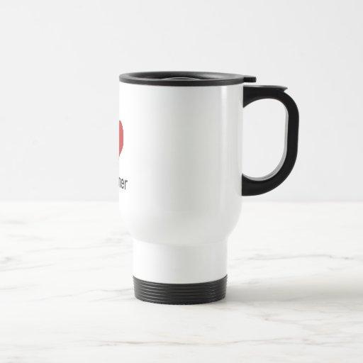 I Love (heart) Conner 15 Oz Stainless Steel Travel Mug
