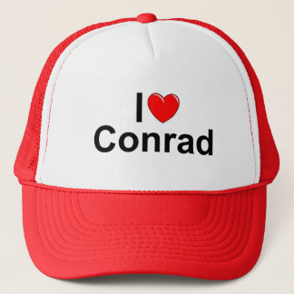 I Love (Heart) Conrad Trucker Hat