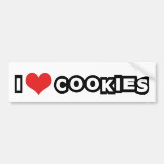 I Love Heart Cookies - Junk Food Lover Bumper Sticker