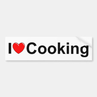 I Love (Heart) Cooking Bumper Sticker