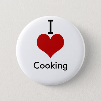 I Love (heart) Cooking Button