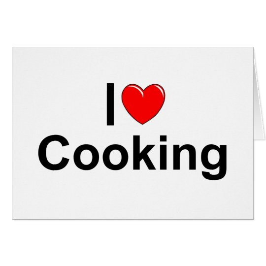 I Love (Heart) Cooking Card