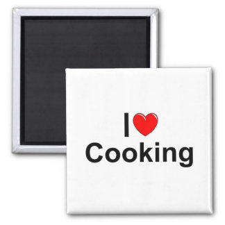 I Love (Heart) Cooking Magnet