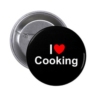 I Love (Heart) Cooking Pinback Button