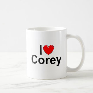 I Love (Heart) Corey Coffee Mug