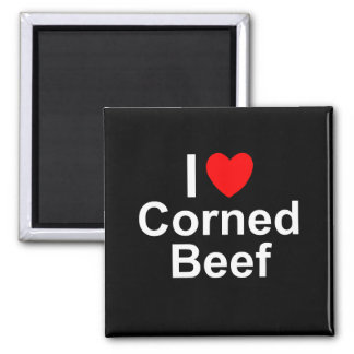 I Love Heart Corned Beef Magnet