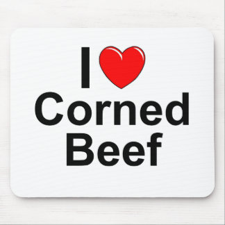 I Love Heart Corned Beef Mouse Pad