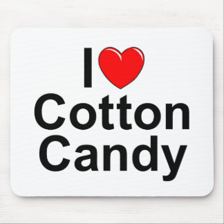 I Love (Heart) Cotton Candy Mouse Pad