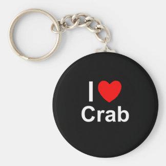 I Love Heart Crab Keychain