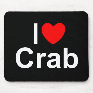 I Love (Heart) Crab Mouse Pad