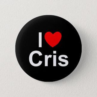 I Love (Heart) Cris Pinback Button