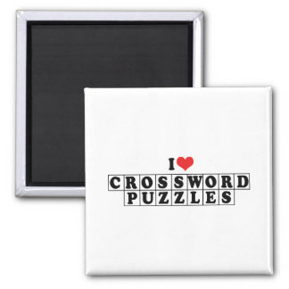 I Love Heart Crossword Puzzles - Puzzle Lover Magnet