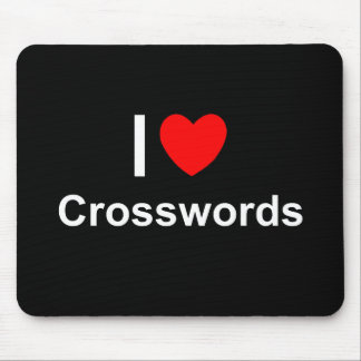 I Love Heart Crosswords Mouse Pad