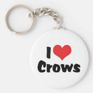 I Love Heart Crows Keychain