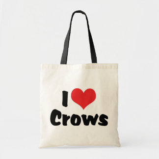 I Love Heart Crows Tote Bag