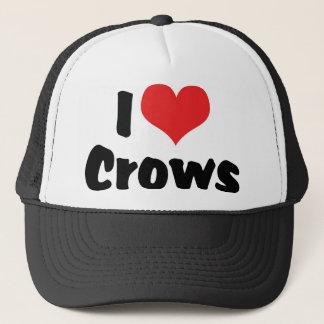 I Love Heart Crows Trucker Hat