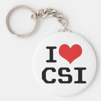 I Love Heart CSI - Crime Scene Investigation Keychain