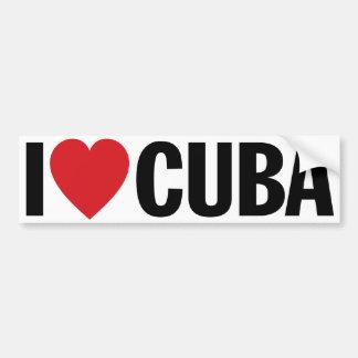 "I Love Heart Cuba 11"" 28cm Vinyl Decal Bumper Sticker"