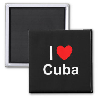 I Love Heart Cuba Magnet