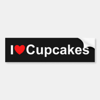 I Love (Heart) Cupcakes Bumper Stickers