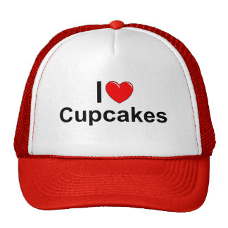 I Love (Heart) Cupcakes Trucker Hat