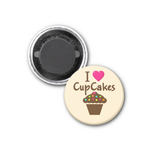 I Love/heart Cupcakes Refrigerator Magnet