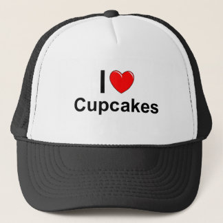 I Love Heart Cupcakes Trucker Hat
