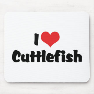 I Love Heart Cuttlefish Mouse Pad