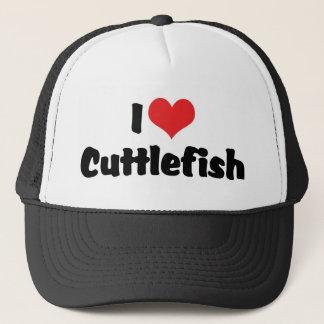 I Love Heart Cuttlefish Trucker Hat