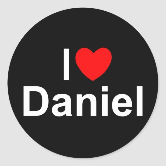 I Love (Heart) Daniel Classic Round Sticker