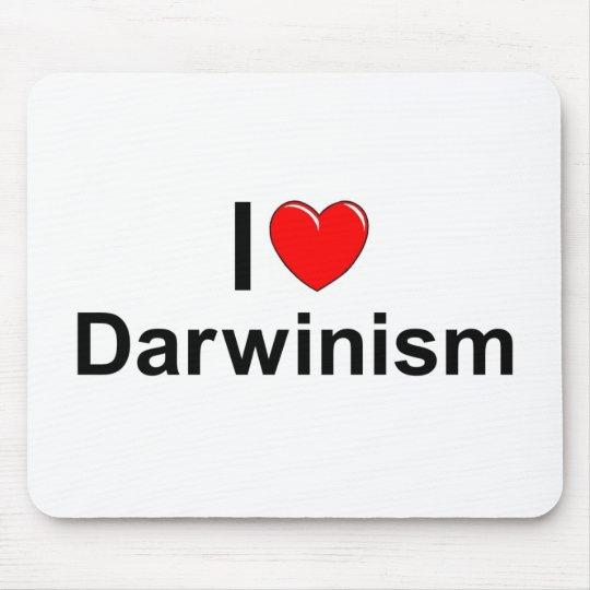 I Love (Heart) Darwinism Mouse Pad