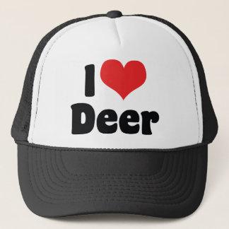 I Love Heart Deer Trucker Hat