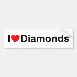 I Love (Heart) Diamonds Bumper Sticker