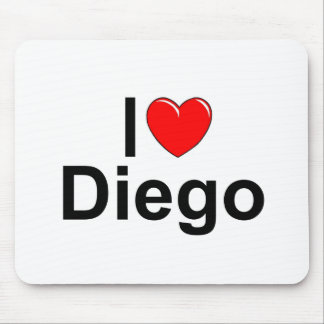 I Love (Heart) Diego Mouse Pad