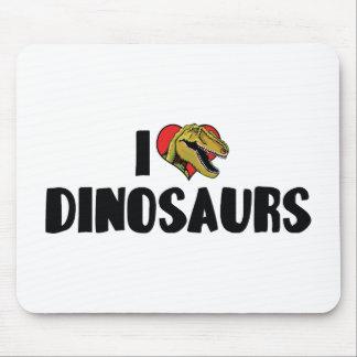 I Love Heart Dinosaurs - Dinosaur Fossil Hunter Mouse Pad