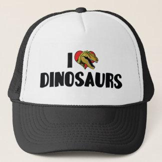 I Love Heart Dinosaurs - Dinosaur Fossil Hunter Trucker Hat
